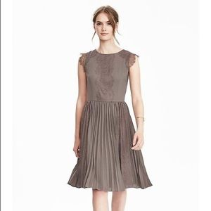 Banana Republic Taupe Cap Sleeve Lace Dress 0